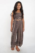 Tru Luv Tribal Romper with Flared Leg (7,8,14)