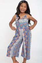 Tru Luv Tribal Romper with Open Tie Back (Sizes 7 to 14)
