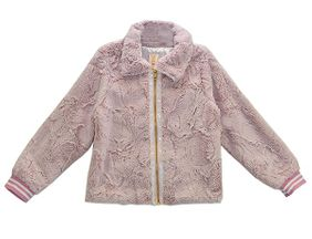 Tru Luv Tween Faux Fur Pink Jacket (8 & 12)
