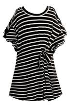 Truly Me Black Stripe Dress Knit (Size 7)