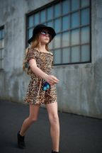 Truly Me Cheetah Romper Smocked for Tweens