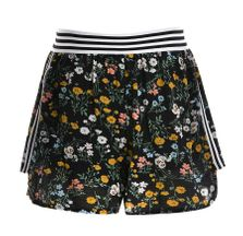 Truly Me Floral Shorts for Tween in Navy