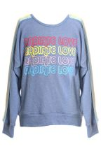 Truly Me Open Back Sweatshirt Love