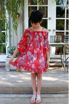 Truly Me Red Floral Tween Dress (Size 7)