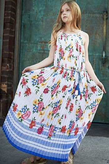 Truly Me Summer Floral Maxi Dress for Tweens