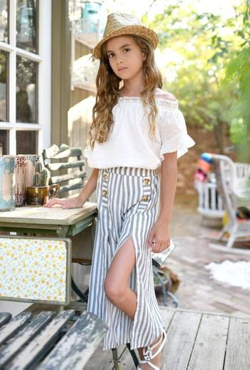 Truly Me Tween Culottes with Top