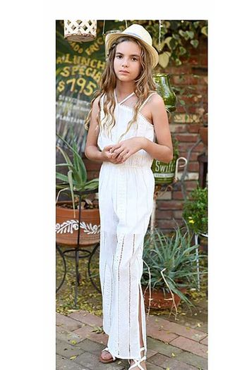 Truly Me White Eyelet Jumpsuit SOLD OUT