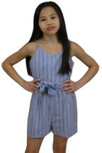 Tween Romper in Blue Stripe (10,12,14)