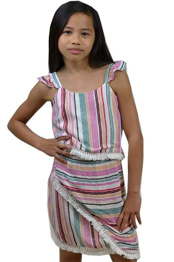Tween Summer Skirt Set Striped (10,12,14)