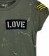 Flowers by Zoe Tween Tee in Olive with Patches Alternate View #3