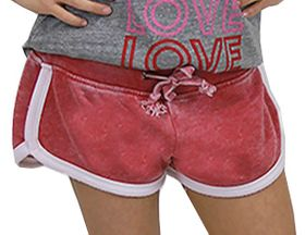 Vintage Havanah Tween Athletic Shorts in Red