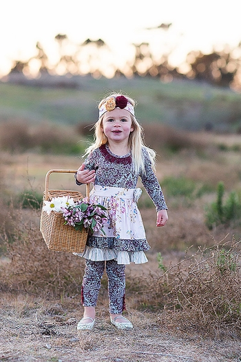 Water Into Wine Dress with Legging (Size 4T)