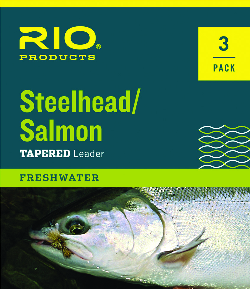 Rio Salmon Steelhead Tapered Leader 3 pack 9 FT ALL SIZES 8 10 12 16 20 Pound