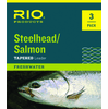 3-Pack Rio Steelhead Salmon Tapered Leaders