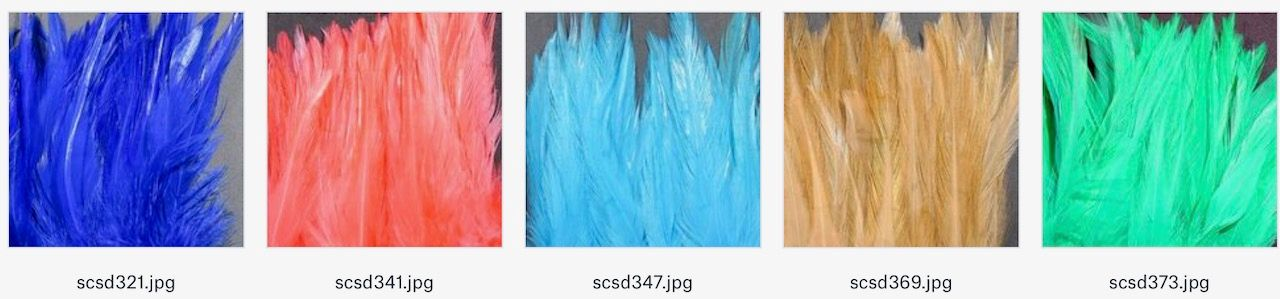 Hareline Strung Saddle Feathers 5-7 inch  Black Fly Tying materials BWCflies