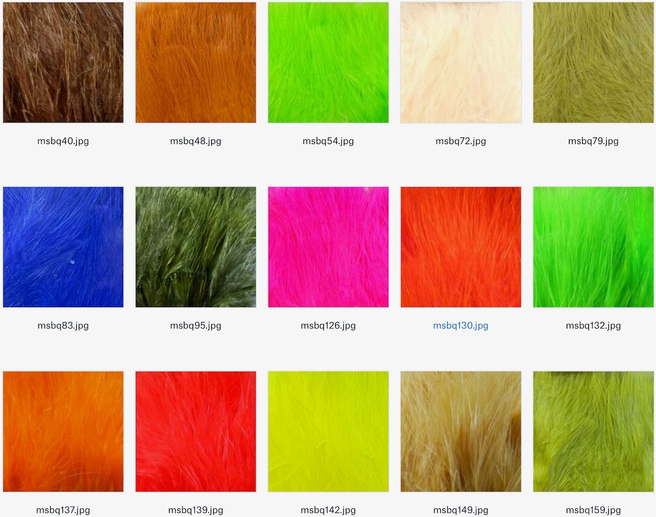 Hareline Marabou Strung Blood Quills All Colors