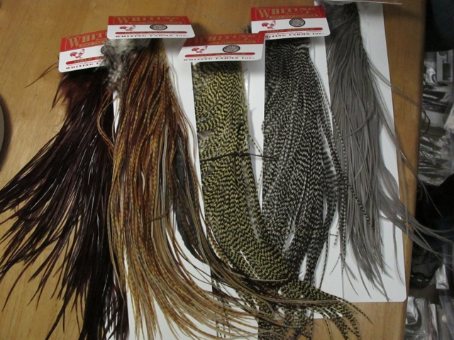 Whiting Rooster Feathers Half-Saddle: Bronze-grade