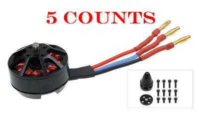 5 Pieces of AeroSky Brushless Multi-Rotor Motor MC2206-2000KV Counterclockwise