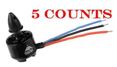 5 Pieces of AeroSky Performance Brushless Multi-Rotor Motor MC2212 980KV