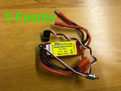 5 pieces of Exceed RC Brushed Speed Controller WK-B20A 6-15V BEC