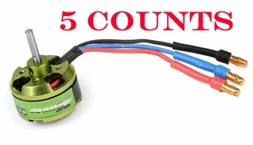 5 Pieces of Exceed RC Helium Brushless Motor 2205-4500kv for RC Helicopters