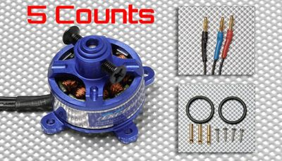 5 Pieces of Exceed RC Legend Motor 1806-2000Kv for RC Airplane Quadcopter Drone