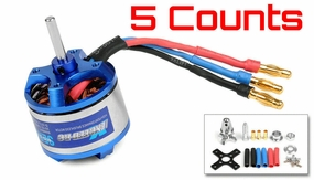5 Pieces of Exceed RC Rocket 3015-1390kv Brushless Motor for RC Plane