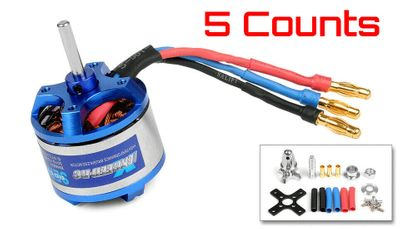5 Pieces of Exceed RC Rocket 3015-1640kv Brushless Motor for RC Plane