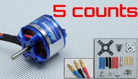 5 Pieces of Exceed RC Rocket 3015-750KV Brushless Motor for RC Plane