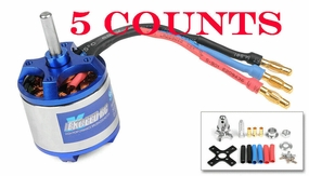 5 Pieces of Exceed RC Rocket 3020-1500kv Brushless Motor for RC Plane