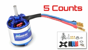 5 Pieces of Exceed RC Rocket 3025-1130kv Brushless Motor for RC Plane