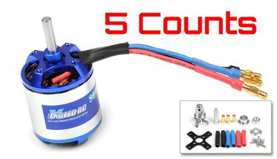 5 Pieces of Exceed RC Rocket 3025-1500kv Brushless Motor for RC Plane Airplane