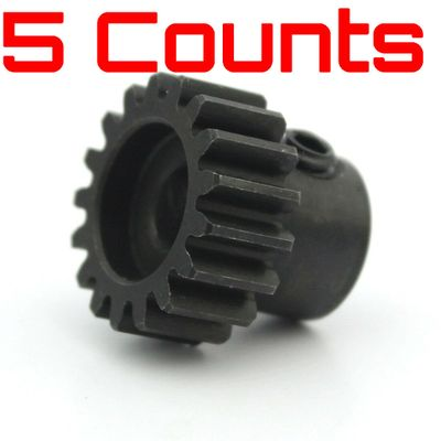 5 Pieces of HobbyWing 13T Steel Pinion Gear