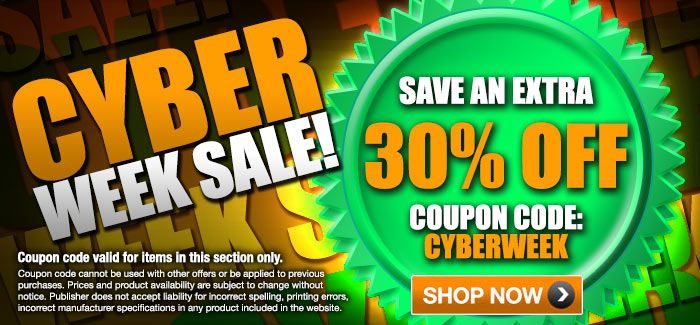 "Cyber Week - Extra 30% OFF with Coupon Code ""CYBERWEEK"""