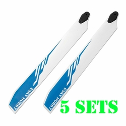 Esky 5 Pair 275mm Main Helicopter Rotor Wooden Blade E-Sky EK4-0004L - Blue