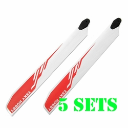 Esky 5 Pair 275mm Main Helicopter Rotor Wooden Blade E-Sky EK4-0004R - Red