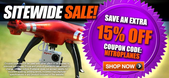 "SiteWide - Extra 15% OFF with Coupon Code ""NITROPLANES"""