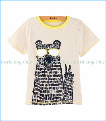Hatley, Sandy Beach T-Shirt in Beige