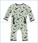 Kickee Pants, Coverall with Zipper, Birds of Kenya Print  in Green