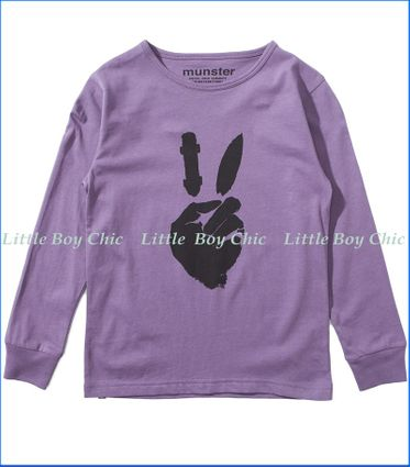 Munster, LS Peace Ride T-Shirt  in Purple