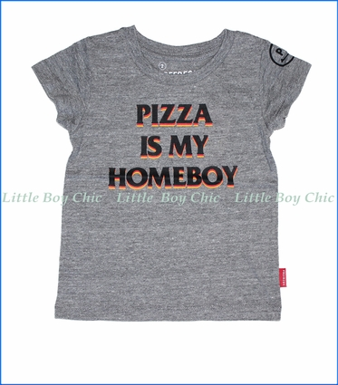 Prefresh, Pizza Homeboy T-Shirt in Grey