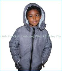 Tuc Tuc, Hooded Outerwear Jacket  in Grey