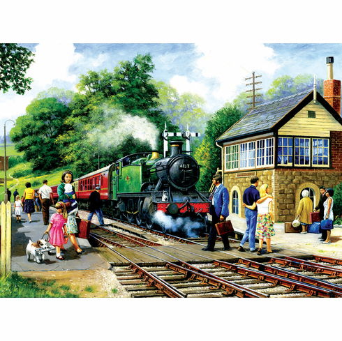 A Country Station - 1000pc Jigsaw Puzzle by SunsOut