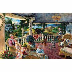 Afternoon with Grandma - 1000pc Jigsaw Puzzle By Sunsout