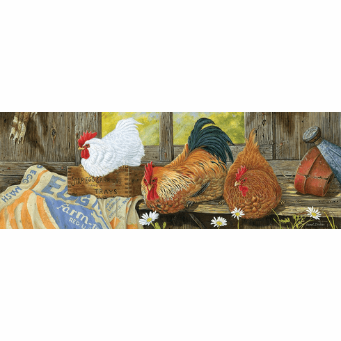 Barnyard Royalty - 500pc Panoramic Jigsaw Puzzle by SunsOut