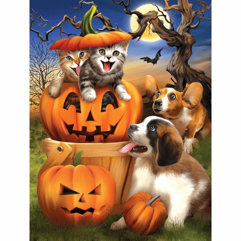 Boo Cat - 500pc Jigsaw Puzzle by Sunsout