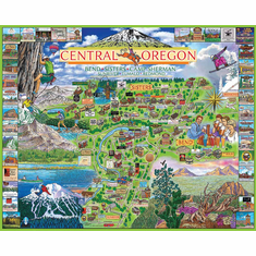 Central Oregon - 1000pc Jigsaw Puzzle By White Mountain (discon)