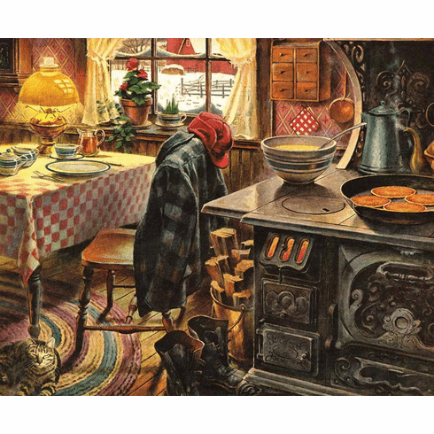 Country Breakfast - 1000pc Jigsaw Puzzle By White Mountain (discon)