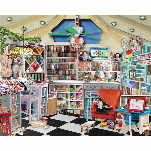 Craft Room - 1000pc Jigsaw Puzzle by White Mountain NEW