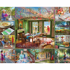Curse of Blackwood Hall - 1000pc Mystery Jigsaw Puzzle By White Mountain NEW